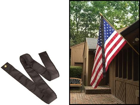 black ribbon on flag