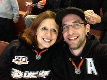 Monica & Gabe, birthday Hockey game