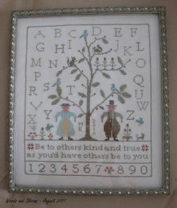 2011-08-05 Be Kind & Be True framed