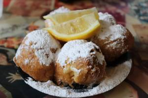 Beignets and lemon