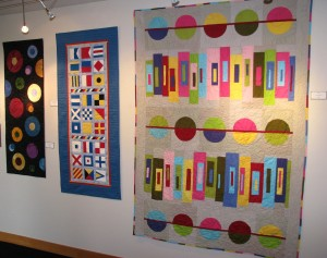 quilts on walls
