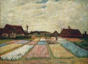 flower beds by van gogh
