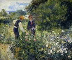 picking flowers, Renoir