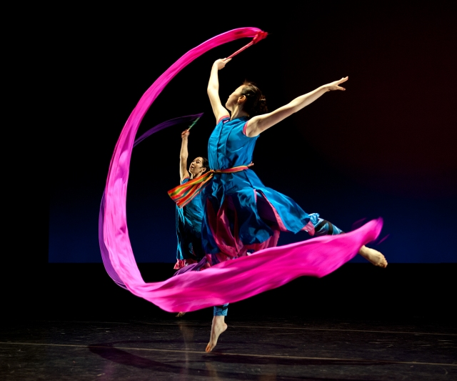 flourish, Chinese ribbon dancer