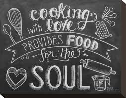 chalkboard cooking