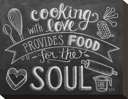 chalkboard cooking