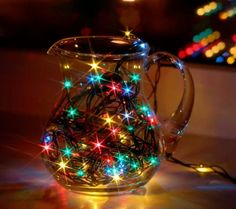twinkle lights pitcher