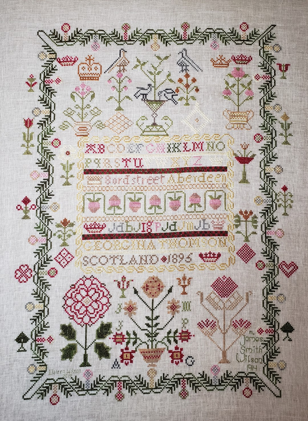 Finished scottish sampler